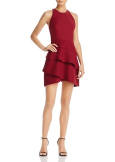 BCBGMAXAZRIA Tiered Ruffle Dress