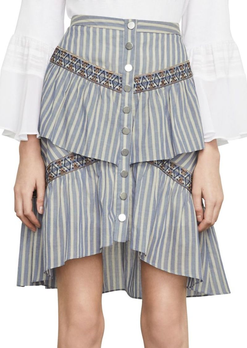 380ca55d66 SALE! BCBG Max Azria BCBGMAXAZRIA Tiered Ruffle Stripe Skirt