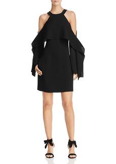 Bcbgmaxazria Tristyn Cold-Shoulder Cape Dress