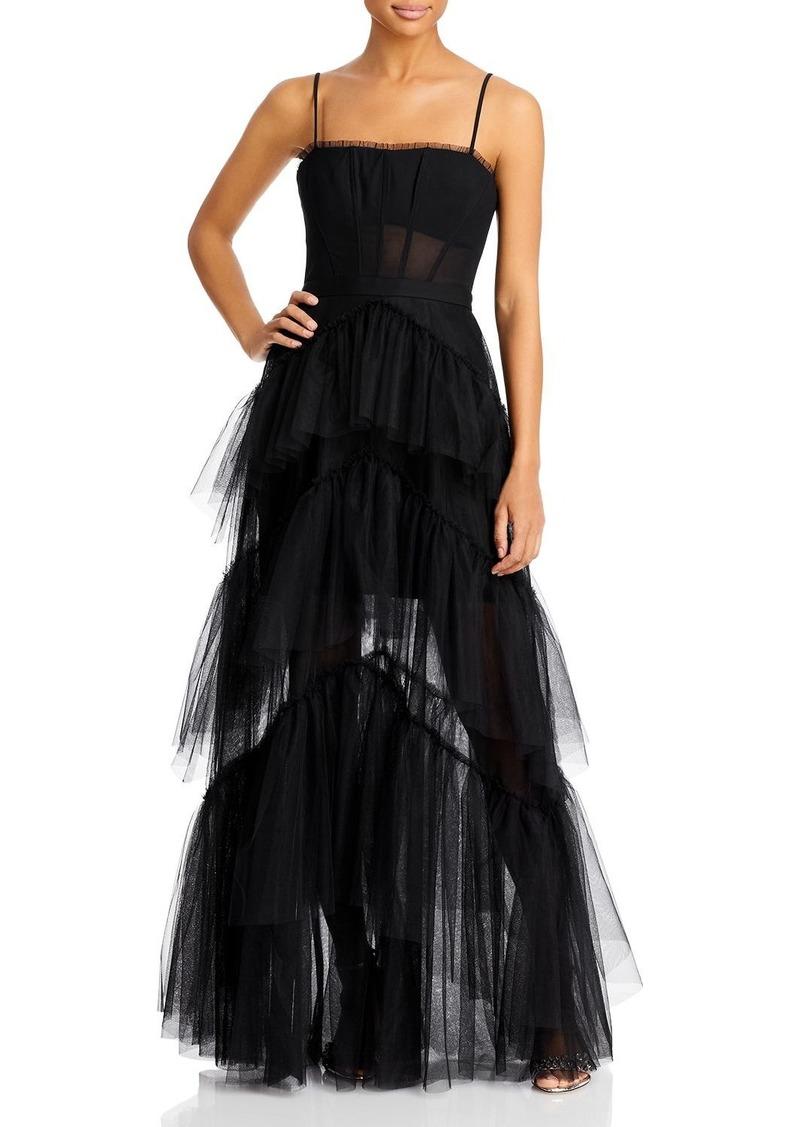 BCBGMAXAZRIA Tulle Corset Essential Gown