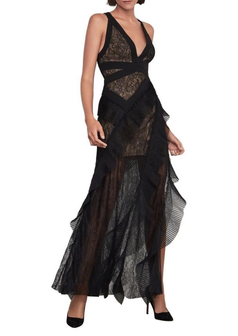BCBG Max Azria BCBGMAXAZRIA Tulle Lace Gown