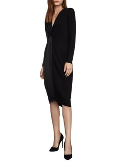 BCBG Max Azria BCBGMAXAZRIA Twist Front Knit Dress