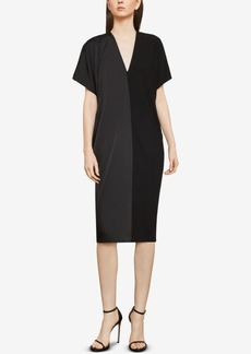 BCBG Max Azria Bcbgmaxazria Two-Tone Draped Shift Dress
