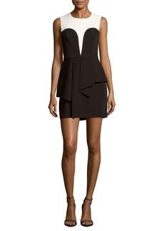 BCBGMAXAZRIA Two-Tone Sleeveless Dress
