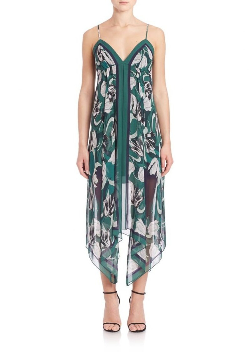 BCBG Max Azria BCBGMAXAZRIA Urban Jungle Isabela Asymmetrical Floral Dress