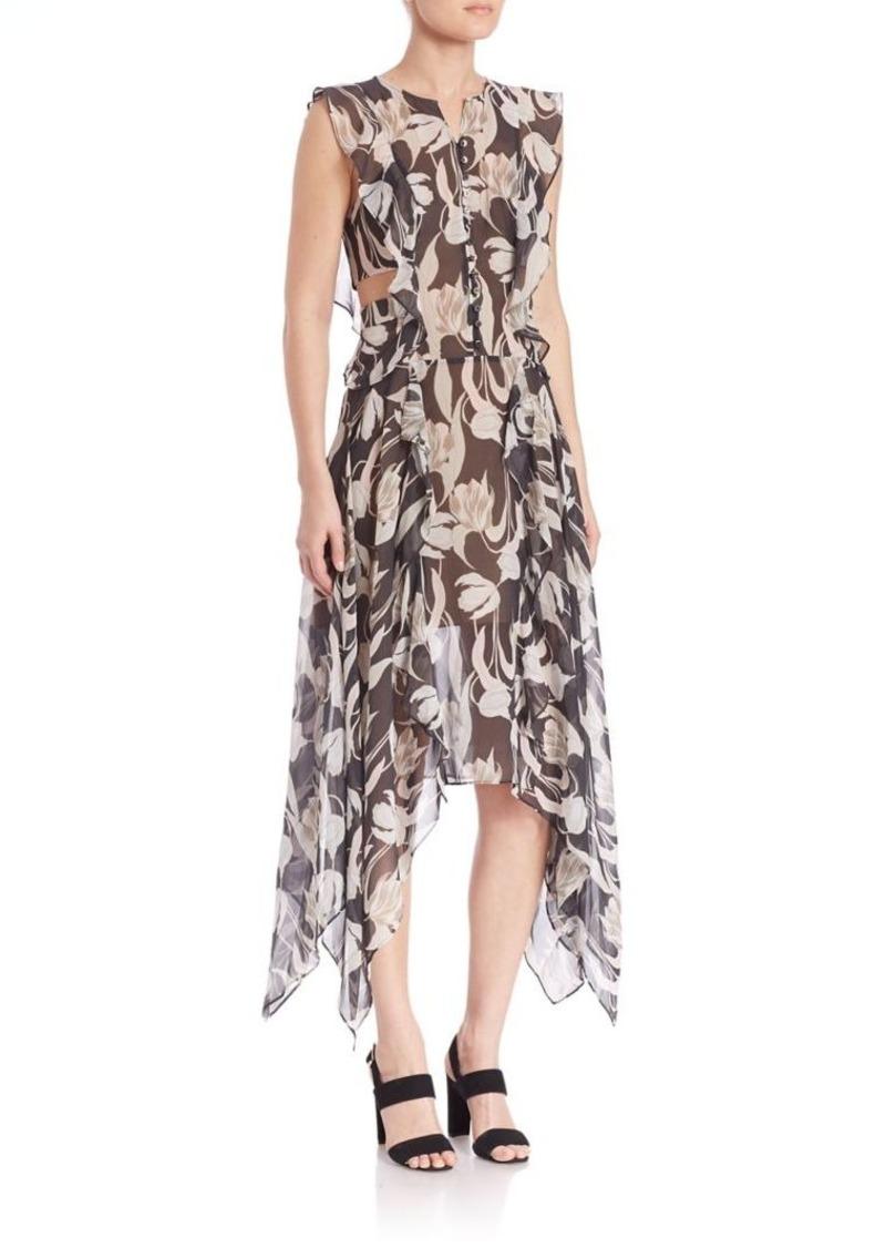 BCBG Max Azria BCBGMAXAZRIA Urban Jungle Jann Silk Cutout Dress