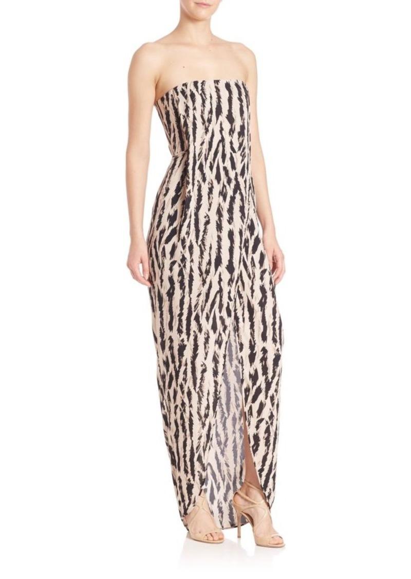 BCBG Max Azria BCBGMAXAZRIA Urban Jungle Jesse Strapless Animal-Print Gown 7c16c1d50