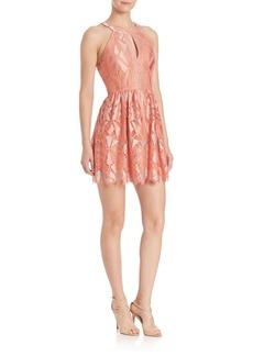 BCBGMAXAZRIA Urban Jungle Megyn Halter Lace Dress