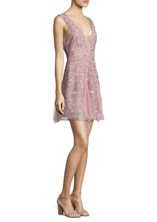 BCBG Max Azria V-Neck Lace Dress