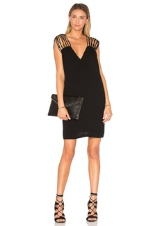 BCBGMAXAZRIA V Neck Shift Dress
