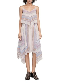 BCBGMAXAZRIA Va Silk Chiffon Asymmetrical Dress