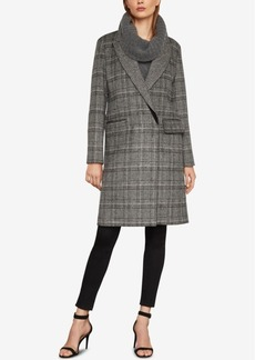 BCBG Max Azria Bcbgmaxazria Valentina Double-Breasted Plaid Coat