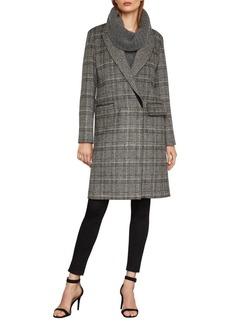 BCBG Max Azria BCBGMAXAZRIA Valentina Glen Plaid Long Coat
