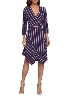 BCBG Max Azria BCBGMAXAZRIA Valet Stripe Handkerchief Wrap Dress