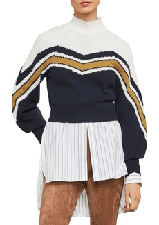BCBG Max Azria BCBGMAXAZRIA Varsity Striped Cropped Sweater- 100% Exclusive