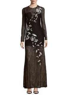 BCBG Max Azria BCBGMAXAZRIA Veira Embroidered Evening Gown