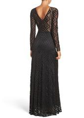BCBG Max Azria BCBGMAXAZRIA 'Veira' Illusion Lace Gown