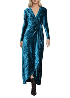 BCBG Max Azria BCBGMAXAZRIA Velour Wrap Dress