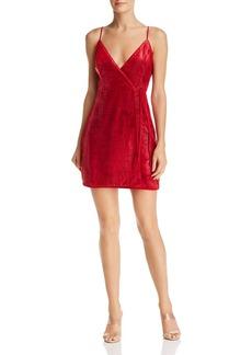 BCBG Max Azria BCBGMAXAZRIA Velvet Faux-Wrap Dress