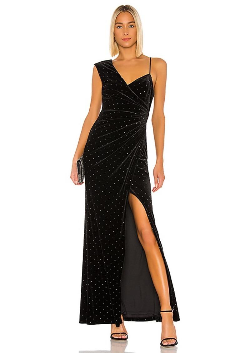 BCBG Max Azria BCBGMAXAZRIA Velvet Rhinestone Gown