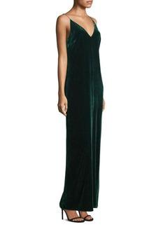 BCBG Max Azria Velvet Spaghetti Strap Gown