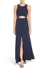 BCBG Max Azria BCBGMAXAZRIA 'Veranna' Lace & Crepe Gown