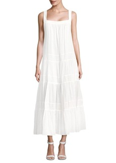BCBGMAXAZRIA Victoryia Squareneck Cotton Dress