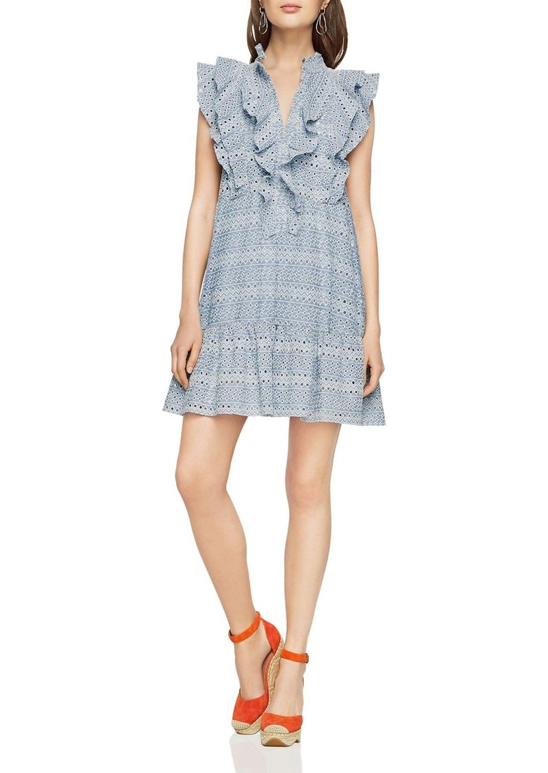 BCBG Max Azria BCBGMAXAZRIA Viola Ruffle-Placket Eyelet Dress | Dresses