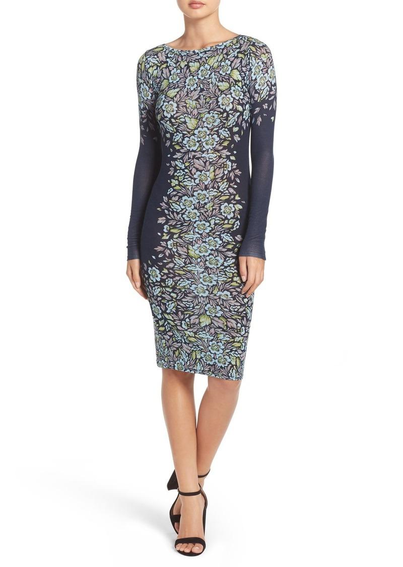 BCBG Max Azria BCBGMAXAZRIA 'Violetta' Floral Knit Body-Con Dress