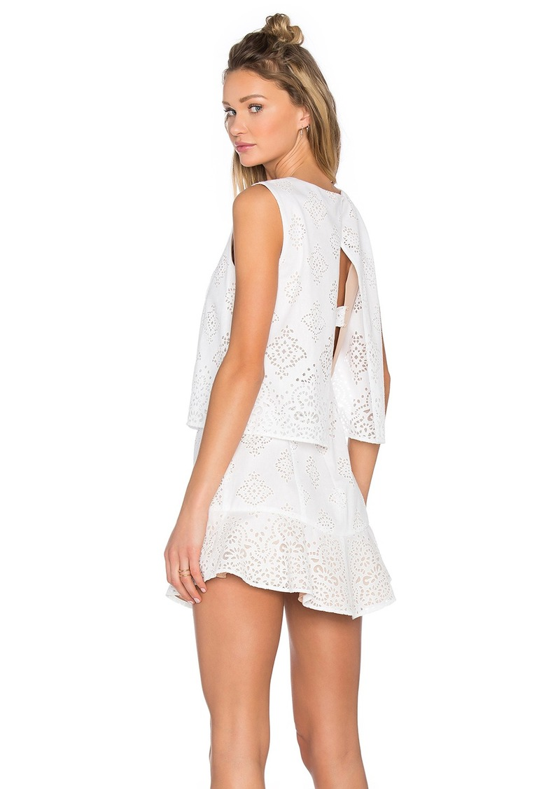 BCBG Max Azria BCBGMAXAZRIA Vivian Crochet Open Back Dress