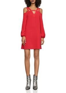 BCBGMAXAZRIA Weiss Cold-Shoulder Dress
