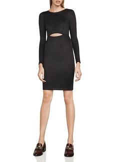 Bcbgmaxazria Whitley Faux-Suede Cutout Dress