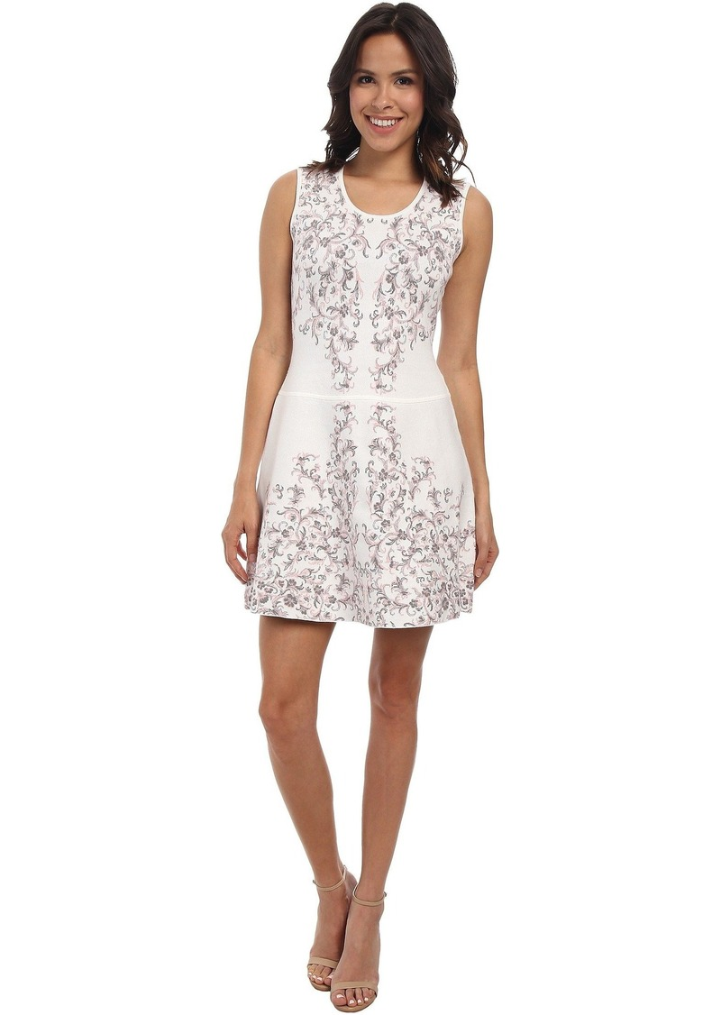 BCBG Max Azria Wilma Embroidered Floral Garden Jacquard Dress