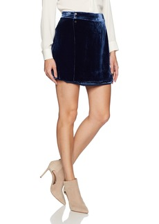 BCBG Max Azria BCBGMAXAZRIA Women's Albie Woven Crushed Velvet Mini Skirt  M
