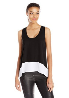 BCBG Max Azria BCBGMAXAZRIA Women's Allison Sleeveless Blouse