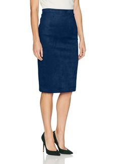 BCBGMAXAZRIA Women's Alpine Faux Suede Knit Pencil Skirt  S