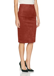 BCBG Max Azria BCBGMAXAZRIA Women's Alpine Faux Suede Knit Pencil Skirt  XS