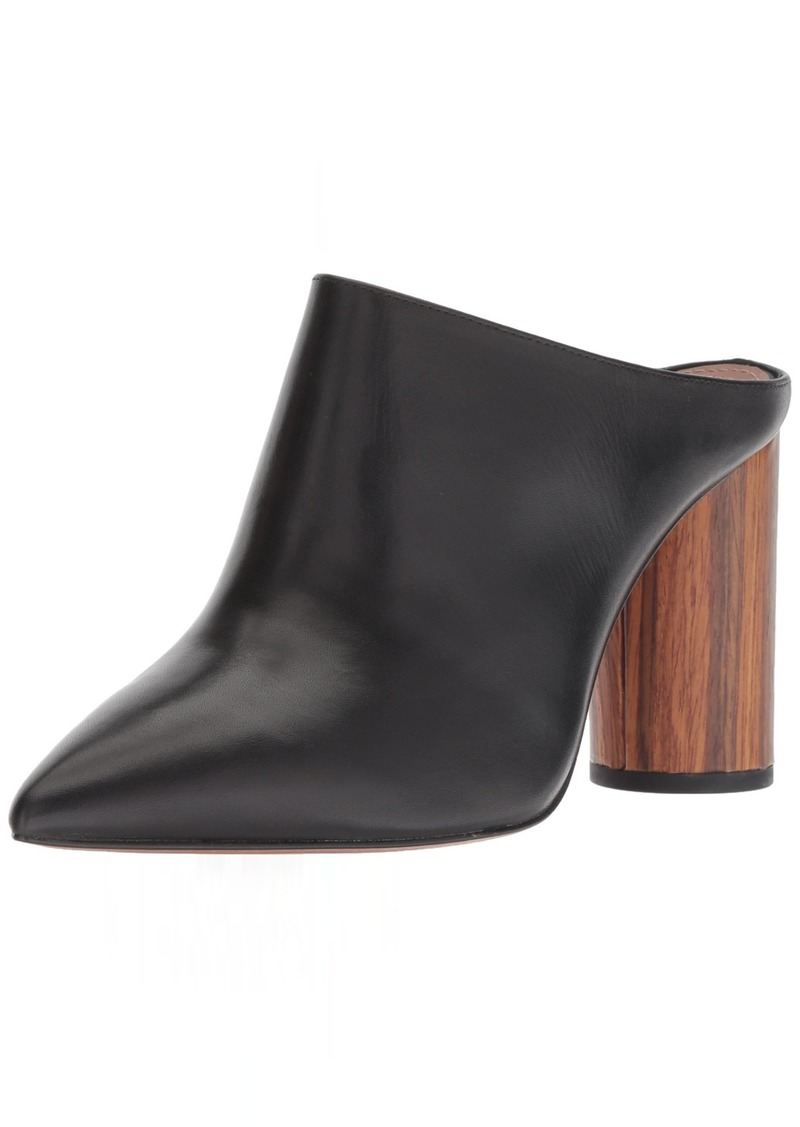 BCBG Max Azria BCBGMAXAZRIA Women's Antonia Slip On Mule Shoe black leather  M US