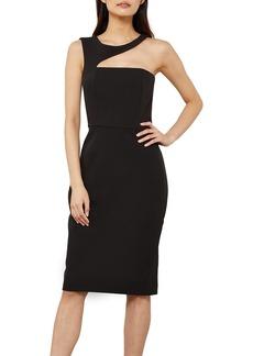 BCBG Max Azria BCBGMAXAZRIA Women's Asymmetrical Cut Out Midi Dress