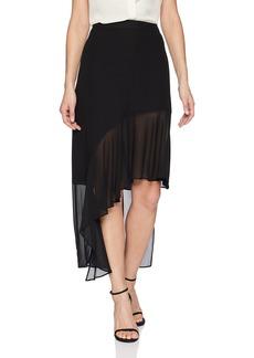 BCBG Max Azria BCBGMAXAZRIA Women's Asymmetrical Ruffle Hem Skirt  M