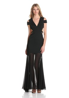 BCBG Max Azria BCBGMAXAZRIA Women's Ava Cut Out Evening Gown