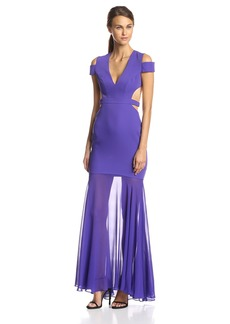 BCBG Max Azria BCBGMAXAZRIA Women's Ava Cut Out Gown