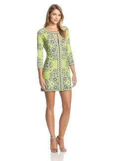 BCBG Max Azria BCBGMAXAZRIA Women's Avila Printed Sheath Dress