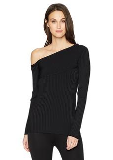 BCBG Max Azria BCBGMAXAZRIA Women's Aya One-Shoulder Sweater  M