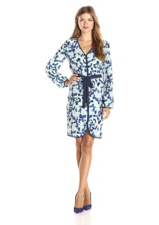 BCBGMAXAZRIA Women's Azra Long Sleeve Blouson Dress