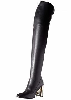 BCBG Max Azria BCBGMAXAZRIA Women's Bea Over the Knee Boot Boot black stretch leather