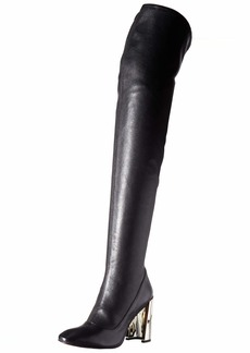 BCBG Max Azria BCBGMAXAZRIA Women's Bea Over the Knee Boot Boot black stretch leather  M US