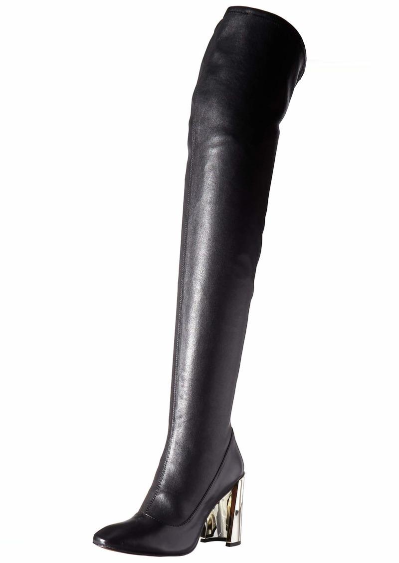 BCBG Max Azria BCBGMAXAZRIA Women's Bea Over the Knee Boot Boot black stretch leather  M US