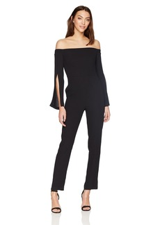 BCBG Max Azria BCBGMAXAZRIA Women's Beatrice Off-The-Shoulder Jumpsuit  XS
