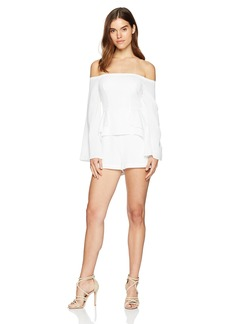 BCBG Max Azria BCBGMAXAZRIA Women's Billie Off-The-Shoulder Romper